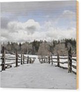 Winter Fields Wood Print