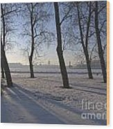 winter forest Peterburg Wood Print
