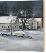 Winter Glow Wood Print by Karol Wyckoff