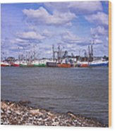 Winter Harbor Wood Print