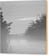 Winter Haze Wood Print by Odd Jeppesen