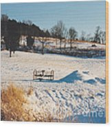 Winter In Granville Tennessee Wood Print