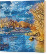 Winter In Salida -- Renoir Wood Print