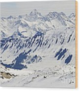 Winter In The Alps - Snow Covered Mountains Wood Print