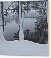 Winter In The Countryside  Bold Tree Wood Print