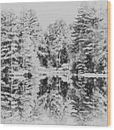 Winter Lake Wood Print