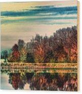 Winter Lake Fantasm Wood Print