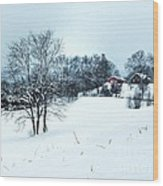 Winter Landscape 1 Wood Print