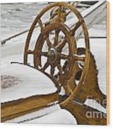 Winter On Board Wood Print by Heiko Koehrer-Wagner