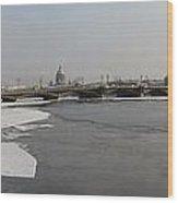 Winter Panoram Peterburg Wood Print