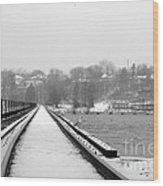 Winter Rails Wood Print