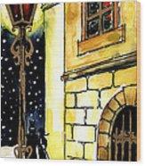 Winter Romance Wood Print