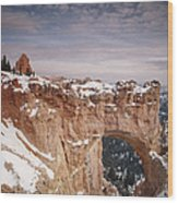 Winter Snow Covers The Eroded Natural Wood Print by Gordon Wiltsie