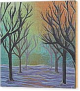 Winter Solitude 11 Wood Print