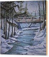 Winter Solitude Wood Print