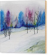 Winter Sorbet Wood Print