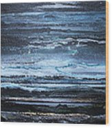 Winter Storms And Moonlight No1 Wood Print