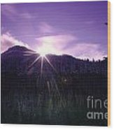 Winter Sun Winking Over The Mountains Wood Print
