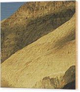 Winter Sunlight On Desert Mountains Wood Print