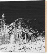 Winter Sunrise On Mount Rainier Wood Print
