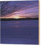 Winter Sunset IIi Wood Print