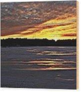 Winter Sunset Iv Wood Print