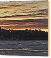 Winter Sunset V Wood Print