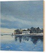 Winter Tide Wood Print