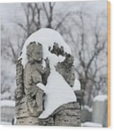 Winter Tombstone Wood Print