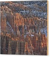 Winter View Of Bryce Canyon National Wood Print