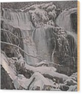 Winter Waterfalls Wood Print