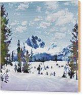 Winter Wonderland Wood Print by Suni Roveto