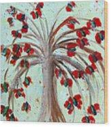 Winterblooms Wood Print by Ayasha Loya