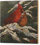 Winters Cardinals Rule Wood Print