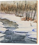Winters Delight Wood Print