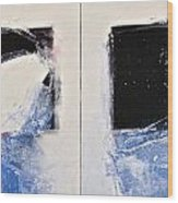 Winters Here - Then Diptych Wood Print