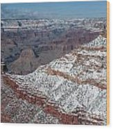 Winter's Touch At The Grand Canyon Wood Print