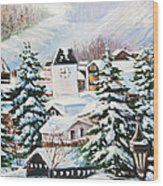 Wintertime In Vail 2286 Wood Print