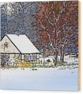 Winther In The Wood Wood Print