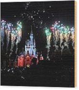 Wishes At The Magic Kingdom Wood Print