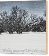Wishing You A Very Merry Christmas Wood Print