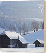 Wishing You A Wonderful Christmas Wood Print