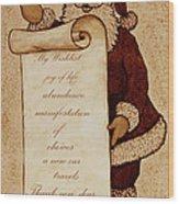 Wishlist For Santa Claus  Wood Print by Georgeta  Blanaru