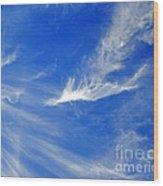 Wispy White Wood Print