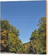 Wissahickon Blue Skies Wood Print