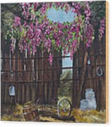 Wisteria Wood Print by Jan Holman