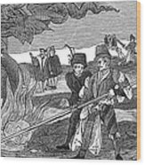 Witch Burning, 1555 Wood Print by Granger