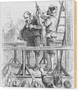 Witch Trial: Execution, 1692 Wood Print by Granger