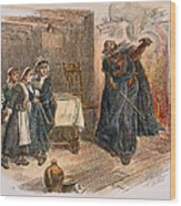 Witch Trial: Tituba, 1692 Wood Print by Granger