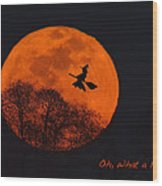 Witchy Moon Wood Print